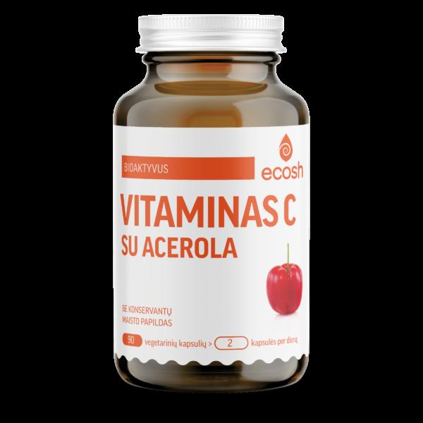 Bioaktyvus vitaminas C su acerola, 90 kapsulių