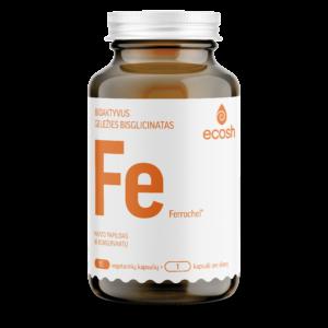 Bioaktyvi Geležis su vitaminu C, 90 kapsulių