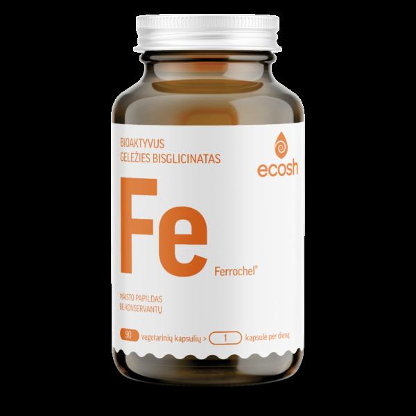 maisto papildas - Bioaktyvi Geležis su vitaminu C, 90 kapsulių