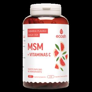 MSM + vitaminas C, 160 kapsulių